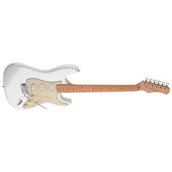 גיטרה חשמלית לבנה Stagg