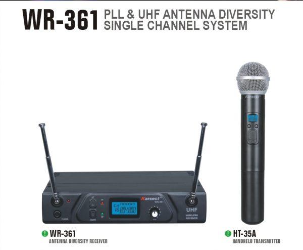 סט אלחוטי ידני תדרים משתנים KARSECT WR-361-HT-35A UHF