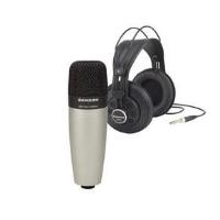 סט קונדנסר לאולפן + אוזניות SAMSON C01 MIC + SR850 HDPHONE