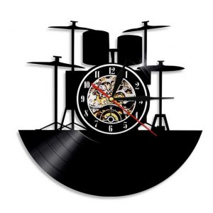 שעון בצורת תקליט - תופים
