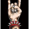 שלט וינטאג' לקיר - יד רוקיסטית