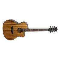 גיטרה אקוסטית מוגברת Gypsy Exotic zebrawood Luna