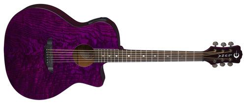 אקוסטית מוגברת Gypsy Quilt Ash Trans Purple Luna
