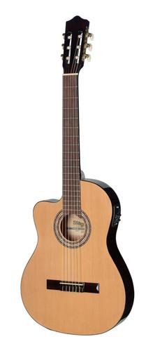 גיטרה קלאסית מוגברת שמאלית מבית Stagg