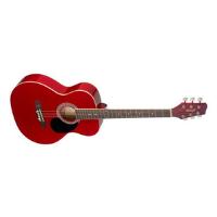 גיטרה אקוסטית אדומה STAGG