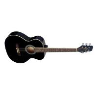 גיטרה אקוסטית שחורה STAGG