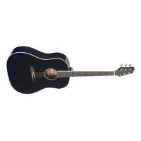 גיטרה אקוסטית שחור צלול STAGG