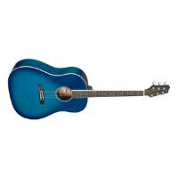 גיטרה אקוסטית כחול ים STAGG