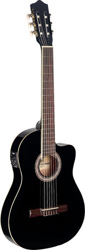 גיטרה קלאסית מוגברת שחורה C546TCE Stagg