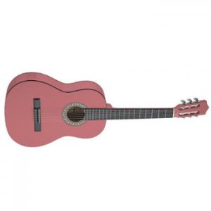 גיטרה קלאסית שמאלית ורודה