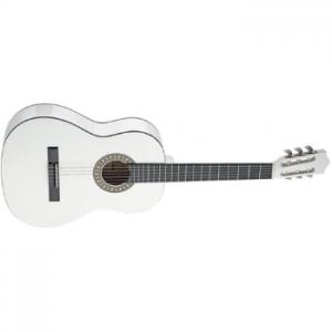 גיטרה קלאסית שמאלית בגודל 3/4 לבנה