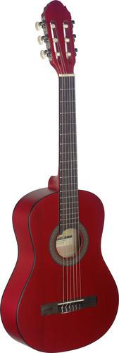 גיטרה קלאסית שמאלית בגודל 3/4 אדומה