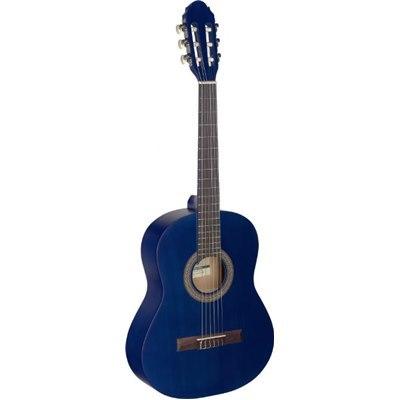 גיטרה קלאסית שמאלית בגודל 3/4 כחולה