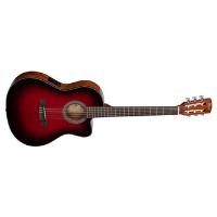 גיטרה קלאסית אדומה מוגברת CORT JADE