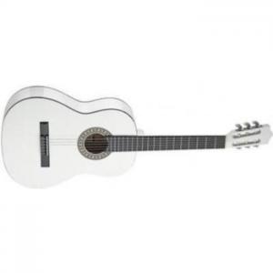 גיטרה קלאסית לבנה - תצוגה