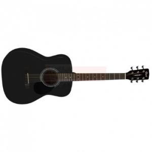 גיטרה אקוסטית שחורה CORT AF510-BKS